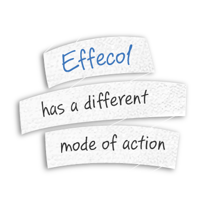 Effecol has a different mode of action